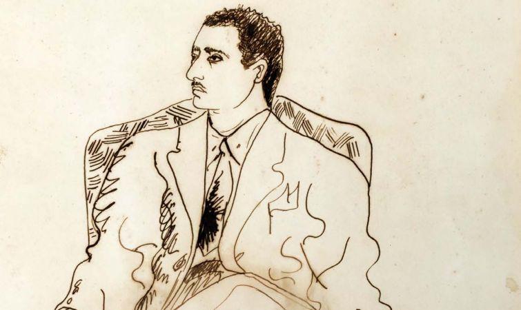 MARIANO RODRIGUEZ. Retrato de Lezama sentado, 1941