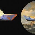 LYDIA RUBIO − Son Monde, 2009 / Three dimensional diptych, mixed media / 72 x 60 inches / Photo: Jonathan Brooks