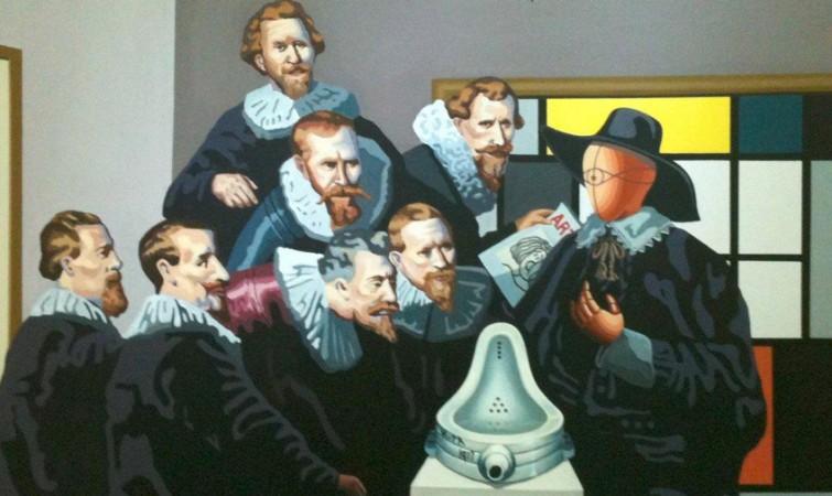 Fantástico Rembrandt La Lección De Anatomía Bandera - Anatomía de ...