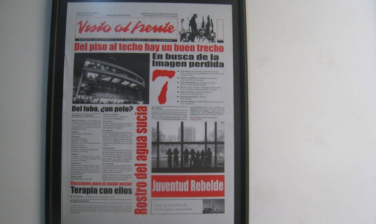 Vista al frente (2008)  Jesús Hernández Impresión offset, 60x45 cm