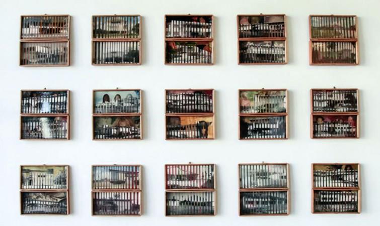 Sin Tíltulo (2014) Mixta sobre caja de tabaco. Instalación