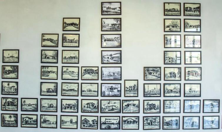 Sin Título. De la Serie Esta es tu casa Fidel (2014) Tinta sobre papel, 21.6x28 cm
