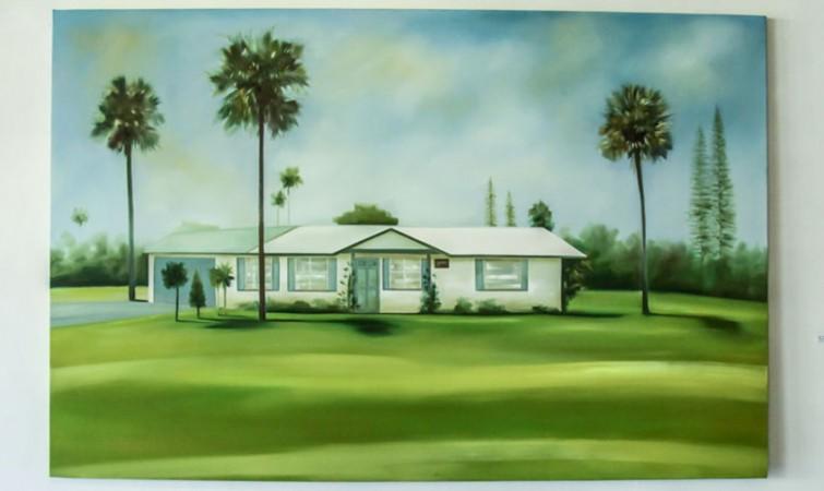 Sin Título. De la Serie Mi casa es tu casa (2014) Oleo sobre tela, 130x200 cm
