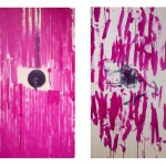 Untitled (diptych), 2014. Acrylic / canvas