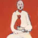 Hombre con gato y fantasma, 2015