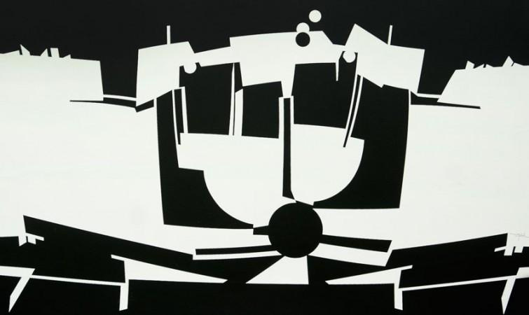 Oraá-composicion-centripeta-serie-Unidad-de-Contrarios-2012-acrílico-lienzo-88-x-161